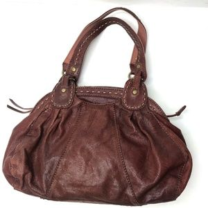 Lucky Brand Red Leather Slouchy Boho Hobo Purse